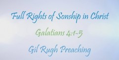 Full Rights of Sonship in Christ